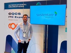 Rogério Krever CEO da Sustentare Seguros participa do InsureTech Connect 2019 em Las Vegas.